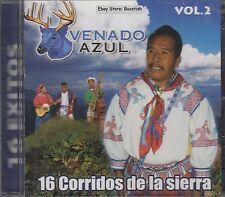 Venado Azul 16 Corridos de la Sierra Vol 2  CD New Nuevo Sealed