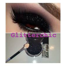 Black Eyes Glitter, with Fix Gel and Application Wand Long Lasting. Large Pot
