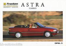 Opel Astra Cabriolet Prospekt 4/93 Auto Autoprospekt Pkw Deutschland Europa 1993