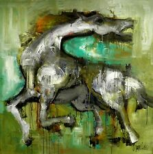HORSE PAINTING - MADE TO ORDER - ABSTRACT ART - contemporary ART by SLAZO