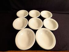 "Set of 8 Vintage Shenango Restaurant Ware White 6"" Oval Dish Bowls"
