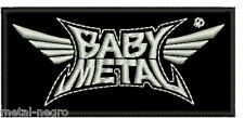 BABYMETAL EMBROIDERED PATCH HEAVY SPEED THRASH JAPAN BABY KAMI BAND Metal Negro