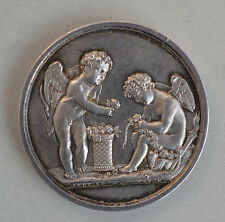 FIRST EMPIRE FRANCE WEDDING  SILVER MEDAL 1807