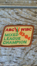 Vintage ABC WIBC Mixed League Champion 83-84 Patch Bowling Sew On