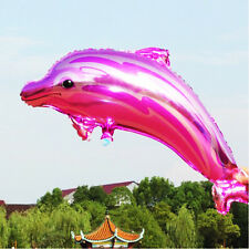 Rose Color Cute Animal Dolphin Foil Balloon For Birthday Wedding Party Decor