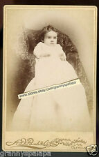 Cabinet Photo-Cleveland Ohio-Cute Baby, Big Eyes, Lots of Hair, Long Gown