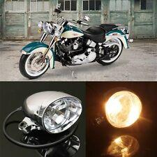 4″ Motorcycle Bike Chrome Bullet Headlight Spot Fog Lamp Bulb For Harley Chopper