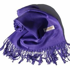 Solid Color Pashmina Silk Wool Scarf Wrap Shawl Soft Classic Buy 3 get 1 Free