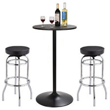 Bar Table And Bar Stools Set Bistro Pub Counter Home Kitchen Dining Furniture