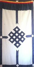 Tibetan Door Curtain with Buddhist Endless Knot print 101% cotton from Nepal