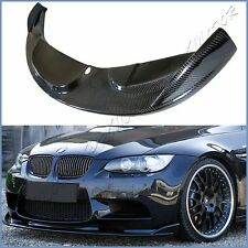 3K Carbon Fiber HM Look Add On Front Lip Fit 2008-2013 BMW E90 E92 E93 M3 Bumper