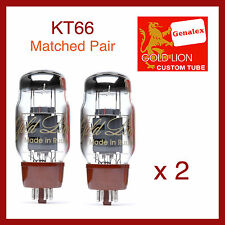 Genalex - Gold Lion KT66 Power Vacuum Tube - Matched Pair - 2 Pieces