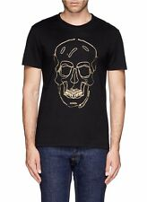 ALEXANDER MCQUEEN SHIRT XL tshirt t black gold skull zip zips mc queen amq