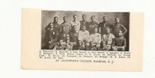 St. Augustine's College Raleigh Negro Leagues NC 1907 Football Team Picture
