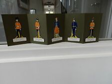 WW1 AUTHENTIC TROOPS  CIGARETTE CARDS X 5 CRAYOLA  KARAM 85 mm tall (five)  A