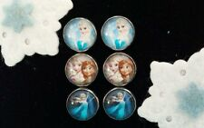New!! Disney's Frozen Elsa Small Stud Earrings 3 Pairs Jewelry in Gift Box! #1