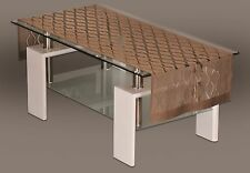 "Rectangular brown, lace tablecloth / table runner NEW 50 x 160 cm (20"" x 63"")"