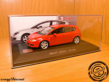 SEAT LEON RED 1:43 2006 MINT!!! WITH BOX-ART