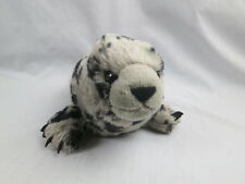 WILD REPUBLIC BABY SEAL PUP PLUSH GRAY BLACK SPOTS STUFFED ANIMAL 2010 K&M TOY