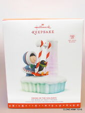 NEW 2016 Frosty Friends Swing In The Holidays HALLMARK KEEPSAKE ORNAMENT 2017