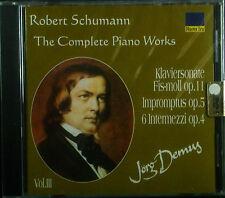 CD ROBERT SCHUMANN - the complete piano works vol. 3, Jörg Demus, neu - ovp