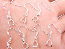 100PCS Wholesale DIY Findings 925 Sterling Silver Pinch Bail Hook Earring Wire