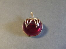 VINTAGE PINK LUCITE CHERRY PIN BROOCH (E)