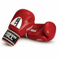 Greenhill Tiger Red 10 Oz Leather Boxing Gloves Training Sparring MuayThai Punch