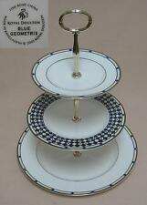 "Royal Doulton ""Blue Geometrix"" THREE TIER CAKE STAND"