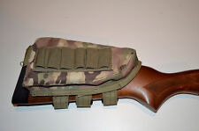 Shotgun Cartridge Holder / Cheek Rest / Buttstock Shell - MultiCam Camouflage