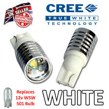 Focus 04-11 Mk2 RS ST LED Side Light SUPER BRIGHT Bulbs 5w Cree W5W 501 T10