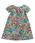 Girl's 0-24 Months Liberty of London Cotton Handmade Dress, Tiny Poppytot Fabric