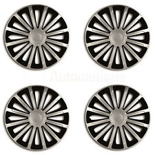"TREND 14"" Car Wheel Trims Hub Caps Plastic Covers Set of 4 Black Universal fit"