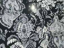 3 yards stretch spandex lycra fabric with paisley and silver sequin decoration