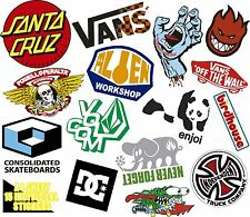 STICKERS SET 15 PEGATINA SKATEBOARDS DC ELEMENT SANTA CRUZ SNOW VINILO