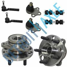8 pc Kit 2 Front Wheel Hub Bearing + 2 Tie Rod + 2 Lower Ball Joint + 2 Sway Bar