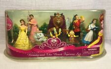 "3"" Disney Beauty And The Beast Figurine Figure Set Gaston Belle Beast Mrs Potts"