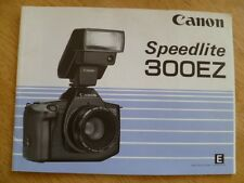 CANON SPEEDLITE 300EZ Flash Instruction Manual - English Edition