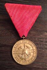 RARE Antique Austrian German Volunteer Firefighter 25 Years Service Medal LOOK!