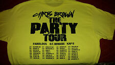 "AUTHENTIC CHRIS BROWN ""THE PARTY TOUR"" LOCAL CREW T-SHIRT NEW NEVER WORN XL"