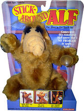 """ALF (Alien Life Form) 6"""" Stick Around Plush Toy w/Suction Cups 1988 NEW! MOC!!"""