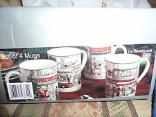NEW Noritake LE RESTAURANT Epoch Holiday MUGS (set of 4) NEW IN BOX