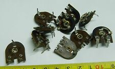 10 Vintage large 15mm  47k skeleton horizontal preset Egen Electric