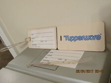 Tupperware 2 Vintage Luggage Tags in Sleeve NEW FREE SHIPPING