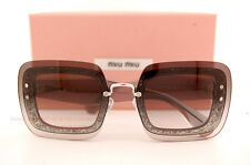 Brand New Miu Miu Sunglasses MU 01R 01RS UES0A7 Grey Glitter Women