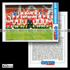 AJAX AMSTERDAM - Fiche Football / Voetbal 1992