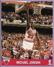 OFFICIAL NBA PHOTO MICHAEL JORDAN 8x10 PICTURE CARD 1990 HOOPS MINI BULLS POSTER