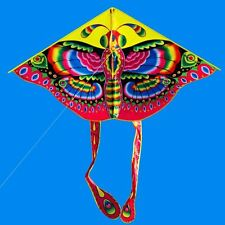 New 55-In Butterfly animal Kite Outdoor Sports Toys single line triangle kites