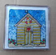 Beach Hut Fridge Magnet - Cross Stitch Kit  - Emma Louise Art Stitch