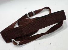 Genuine Nikon classic strap rare Dark Red & Chrome Nikon buckles fit SLR camera